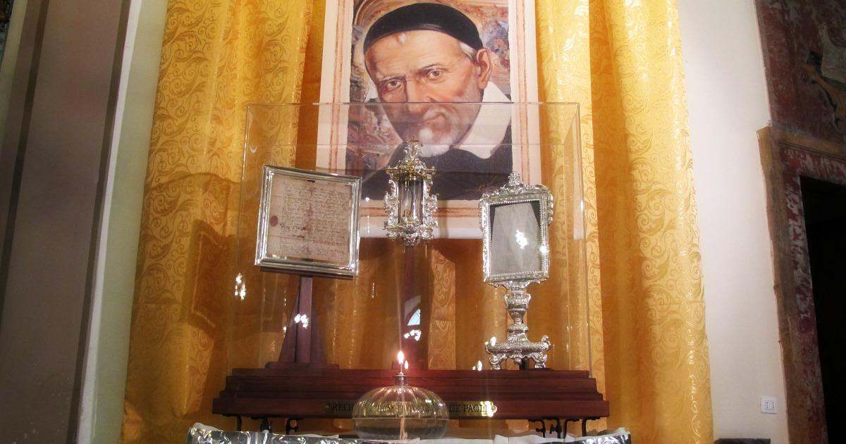 Reliquie di San Vincenzo de Paoli
