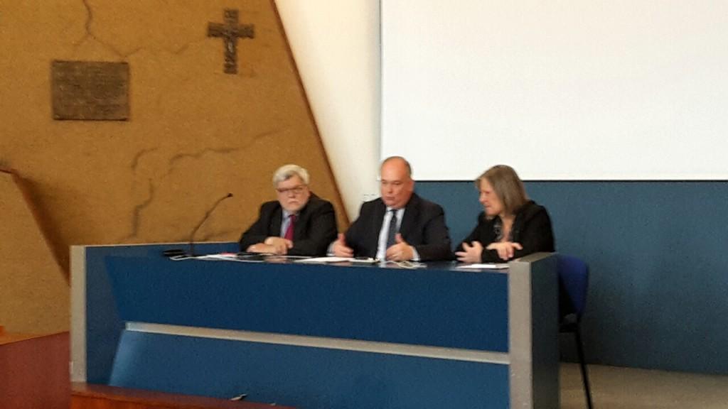 da destra verso sinistra: Kirsten Thiele, Riccardo Burigana, Valdo Bertalot