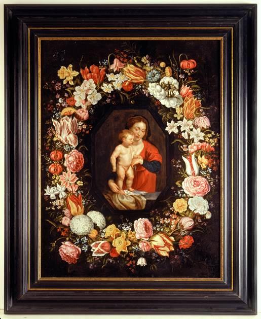 La Madonna col Bambino in una ghirlanda di fiori di Rubens e Brueghel