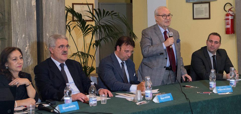 Romano Bellissima (segretario generale nazionale della Uil pensionati) interviene alla conferenza Ada di Sorrento (11 aprile 2018)
