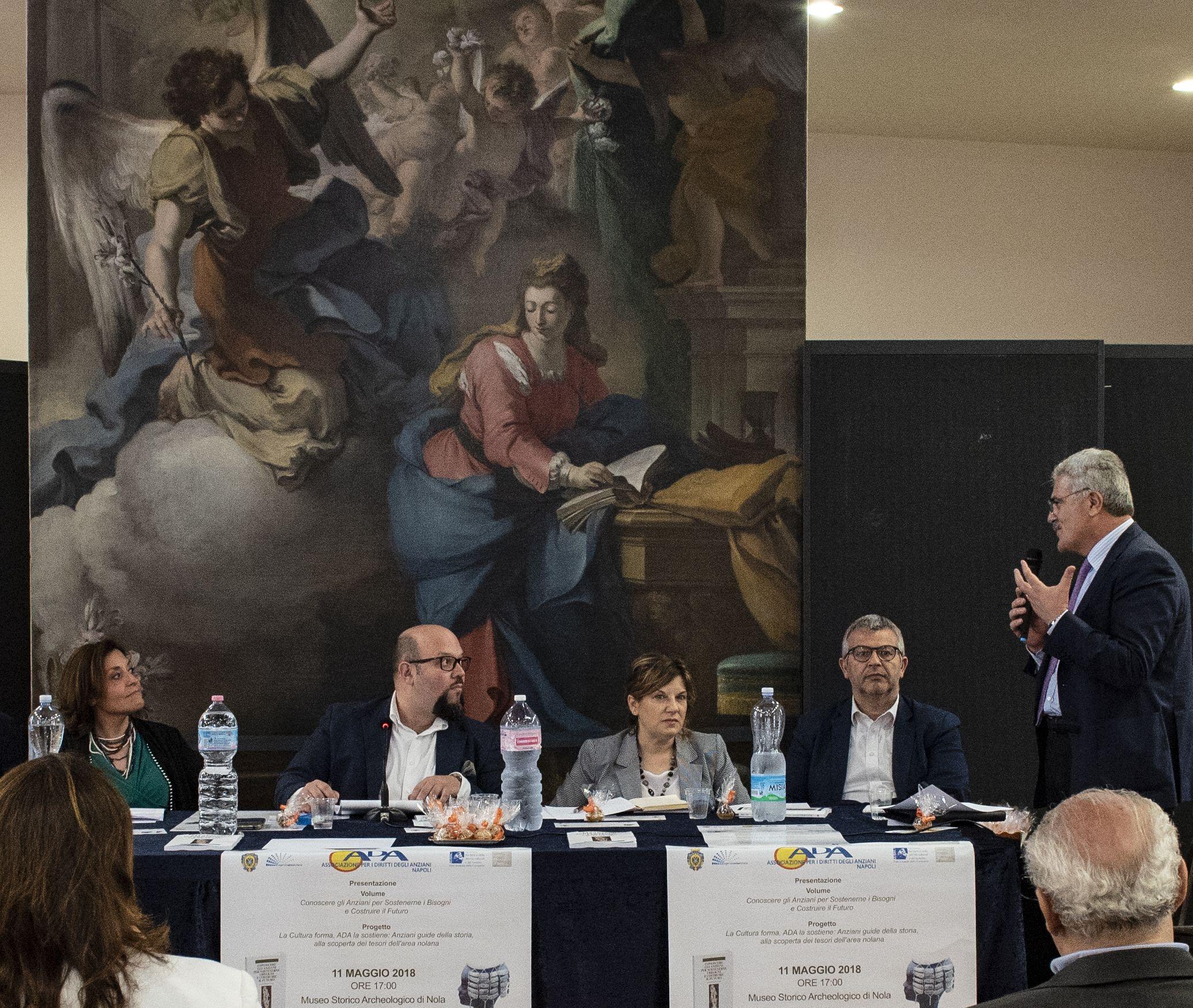 Da sx verso dx: Mara D'Onofrio, Michele Giustiniano, Paola De Vivo, Vincenzo Caprio, Biagio Ciccone