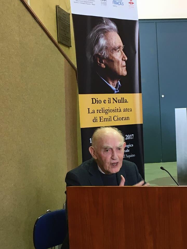 Aldo Masullo alla sazione San Tommaso d'Aquino della Pontificia Facoltà teologica dell'Italia Meridionale